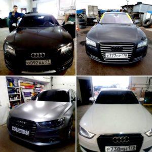 Лобовое автостекло на Audi