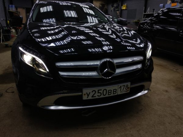 Ремонт фар на Mercedes GLA