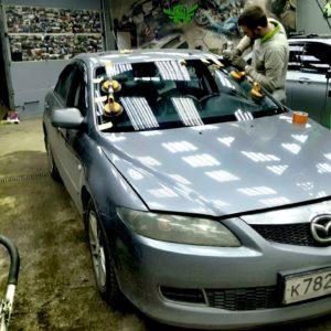 Автостекла: Лобовое стекло на Mazda 6