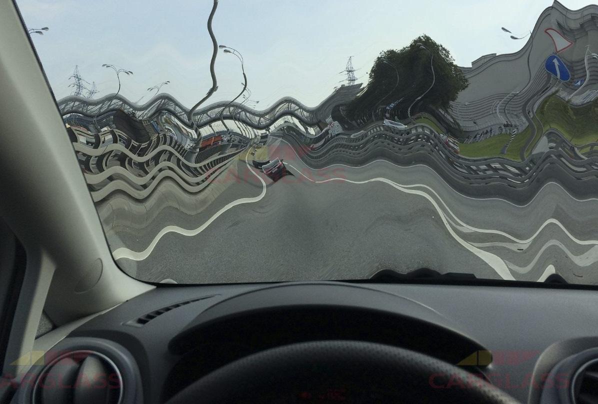 Искажение изображения автостекла