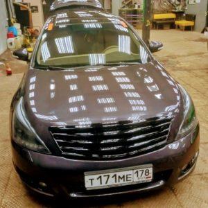 Замена лобового автостекла на Nissan Teana